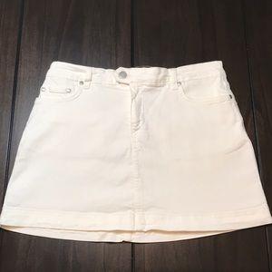 Lacoste White Jean Skirt Size 40 (USA 40)